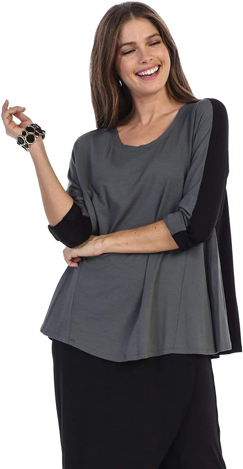 By JJ Two Tone Modal Long Sleeve Top