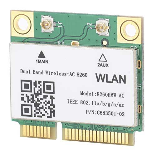 Tarjeta de Red de 2.4G / 5Ghz, Tarjeta de Red de Banda Dual de Estructura Estable Mini PCI-E de Doble Banda, Tarjeta de Red PCI-E para ASUS