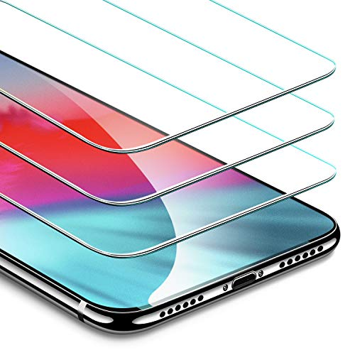 ESR 3Pack Screen Protector for iPhone Xs/iPhone X iPhone iPhone Xs/iPhone X Tempered Glass Screen Protector Force Resistant Up to 22 Pounds Case Friendly for iPhone 58 inch2017amp2018 Release