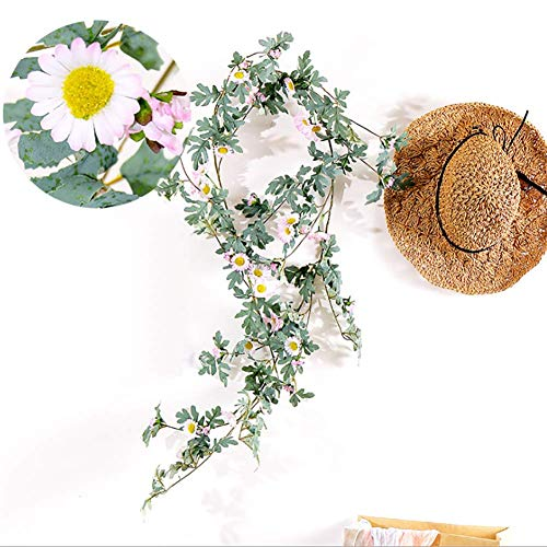 Xiaojie Simulation daisy sunflower vine living room winding interior decoration 6 pieces