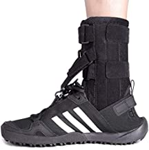 fibee Foot Up Brace for Walking Soft Adjustable AFO Straps Drop Foot Brace & Low Profile Orthosis Ankle Stability Support Pads for Shoes Walking, Fits Left or Right Foot for Women and Men, Black