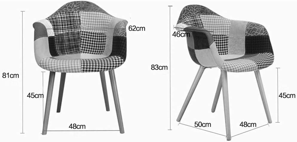 HXF- Chaise de salle à manger, chaise de bureau simple, dossier créatif, chaise de loisirs, chaise de salle à manger pour adulte durable (couleur : mélange de couleurs) Violet