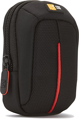 Hülle Logic DCB301K Camera Hülle S Kameratasche inkl. Gürtel-/Handgelenksschlaufe (Innenfach für Zubehör) schwarz/rot