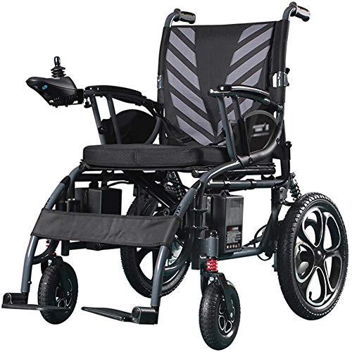 GLXLSBZ Silla de ruedas eléctrica portátil ligera plegable inteligente totalmente automática rondas Power Chair para ancianos discapacitados B (regalos ancianos)