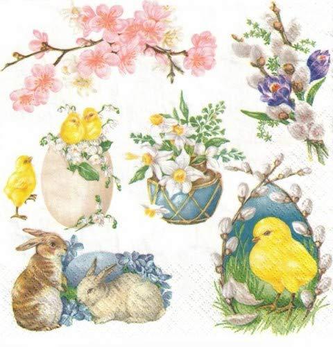 20 tovaglioli per decoupage Art Craft Event Vintage Pasqua motivi SLWL011301