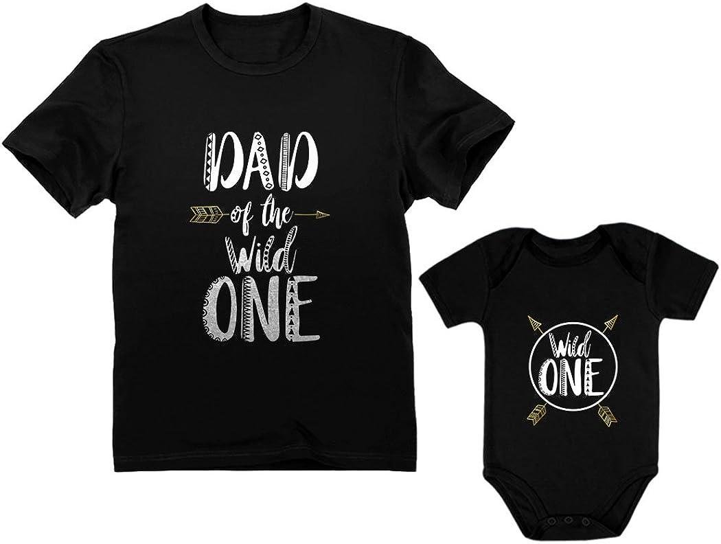 Herren T-Shirt /& Baby Strampler//Baby Body Passende Vater Baby Geschenkset Zarlivia Clothing Ich hab die touchter der Welt