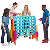 ECR4Kids ELR-12521 Jumbo 4-to-Score Giant Game Set, Backyard Games for Kids, Jumbo Connect-All-4 Game Set,...