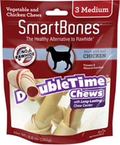 SmartBones Doubletime Rolls with Long-Lasting Chew Center, Chicken