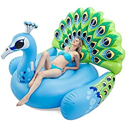 Large Peacock Inflatable Float