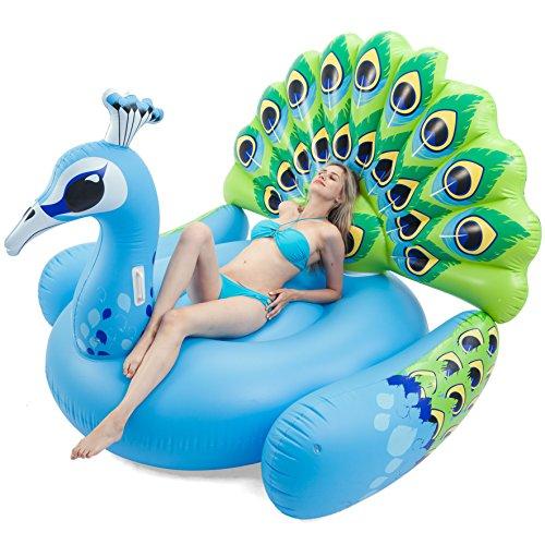 JOYIN Inflatable Peacock Pool Float, Fun Beach Floaties, Swim Party Toys, Pool...