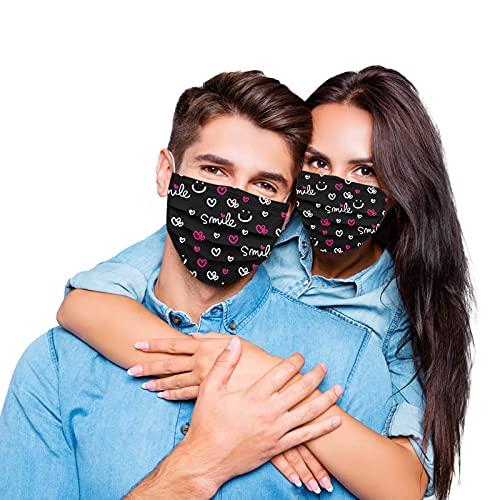 YINGXIONG 20 Stück Erwachsene Einweg Mundschutz mit Motiv Einmal_3-lagig Mund-und Nasenschutz Elegant Blumenmuster Printed Multifunktionstuch Halstuchs Atmungsaktive Bandana für Damen (C11, 20pc)