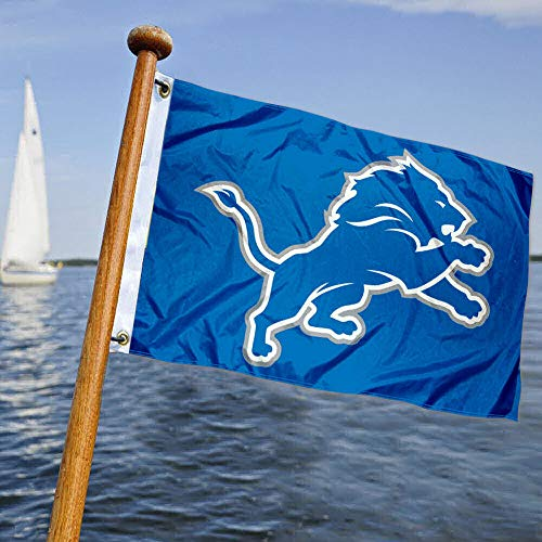 WinCraft Detroit Lions Boat and Golf Cart Pennant Flag