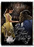 Disney's Beauty & The Beast, 'True Love' Woven Tapestry Throw Blanket, 48' x 60', Multi Color