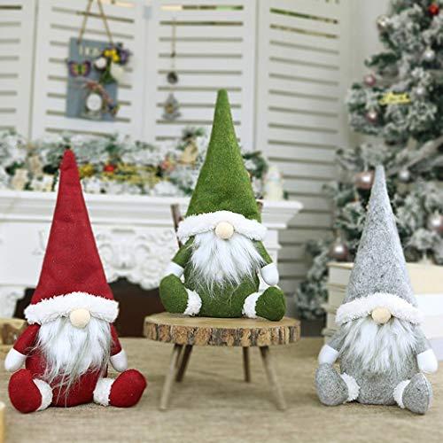 Mimanou Regalo Senza Decorazioni delle Decorazioni di Natale della Decorazione della Finestra di Santa Doll Window Decorazioni Natalizie