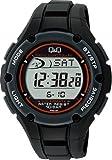 シチズン Q Q 腕時計 デジタル 電波 ソーラー 防水 日付 ウレタンベルト MHS6-300 メンズ ブラック