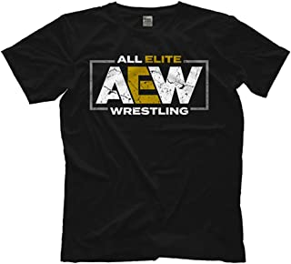 Pro Wrestling Tees Mens Licensed AEW Logo All Elite Wrestling Tee