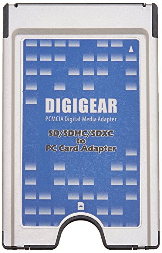 Digigear SD SDHC SDXC to PCMCIA PC Card, Adapter Supports, ATA Flash...