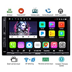 Developed from widely used and stable Android Marshmallow OS,deeply customized/optimized to let it perform better in vehicles. Lots of vehicle-based features - FM/AM Radio,AUX/Backup camera input, Bluetooth,Steering wheel key control(no DVD/CD Player...