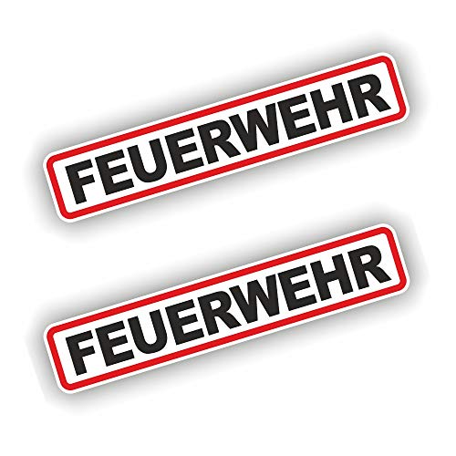 folien-zentrum 2X Feuerwehr Aufkleber Shocker Hand Auto JDM Tuning Dub Decal Stickerbomb Bombing Sticker Illest Dapper Fun Oldschool
