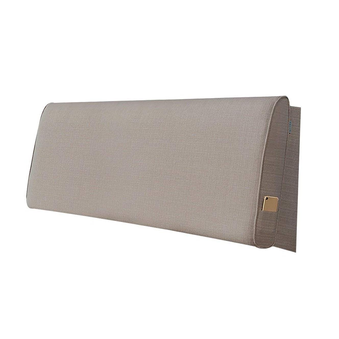 カバー元気突然2J-QingYun Trade ベッドソフトパッククッション大型背もたれファブリックダブルヘッドフードピロー背もたれ取り外し可能と洗えるピロークッション (Color : C)