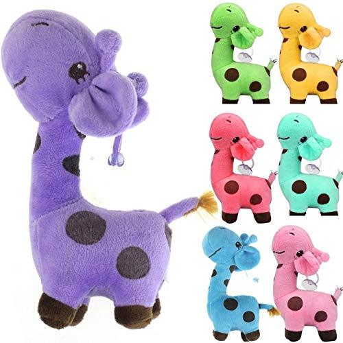 Dapei Babyspielzeug Kuscheltier Giraffe Plüschtier - hochwertiges Kleinkindspielzeug - Stofftier Geschenk für Geburtstagsfeier Valentinstag Weihnachten Party (Violett)