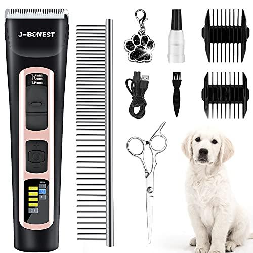 B ozhiwei - Cortacésped profesional para perro, largo grueso y eléctrico inalámbrico,...