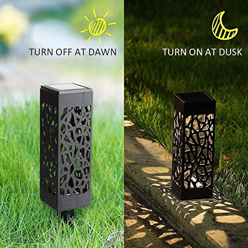 2 Psc Outdoor Solar Power Led Tuinlampen Lantaarns Zonne-Led Lampen Voor Patio Yard Lawn Pathway Tuindecoratie