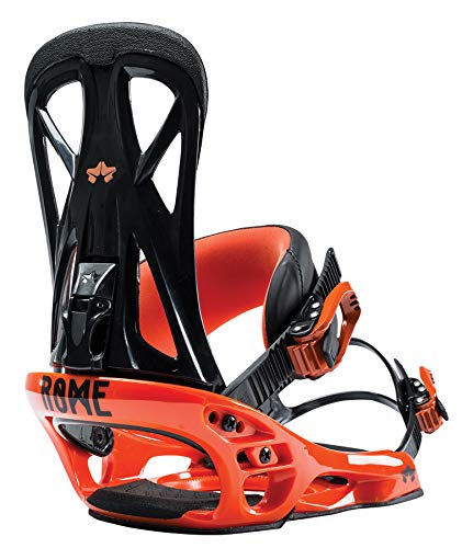 Roma Snowboards United - Fijaciones para Snowboard, Color Naranja, tamaño Mediano