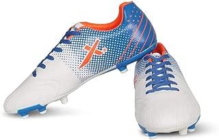 Vector X Techno Football Shoes (White-Blue-Orange)