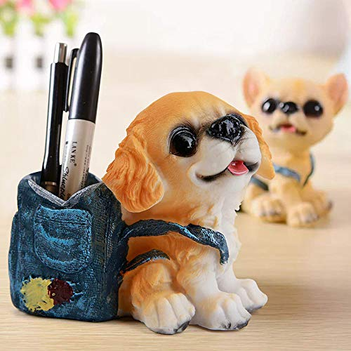 TIED RIBBONS Cute Dog Decorative Pen Holder for Office Desk Study Table Gifts (Design1)