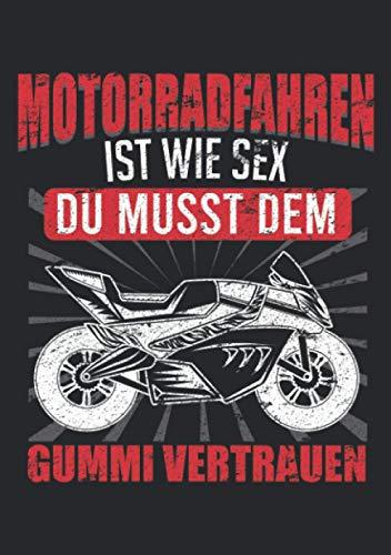 Notizbuch A5 liniert mit Softcover Design: Motorrad Spruch Racing Biker Supersportler Rennmotorrad: 120 linierte DIN A5 Seiten