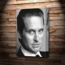 MICHAEL DOUGLAS - Canvas Print (LARGE A3 - Signed by the Artist) #js002