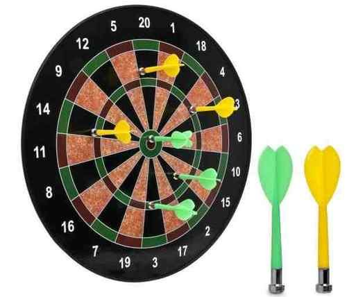 16' Official Size Magnetic Dartboard with 6 Darts included