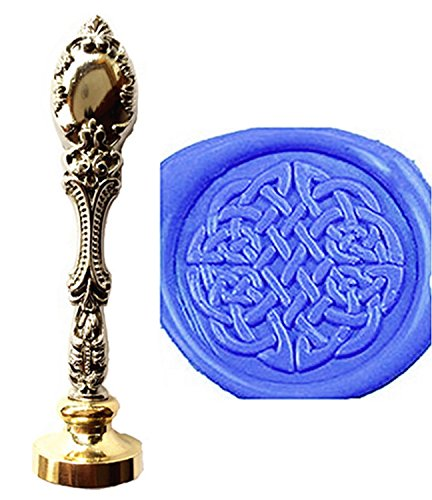 MNYR Vintage Celtic Knot Art Wax Seal Stamp Luxury Bronze Metal Peacock Decorative Wedding Invitations Gift Card Paper Stationary Envelope Seals Custom Company Logo Monogram Wax Seal Sealing Stamp Set