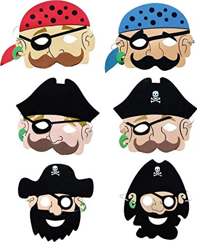 Masques de pirates (lot de 6)