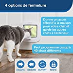 PetSafe - Chatière à Puce Électronique pour Chat Micropucé, Entrée Sélective, Facile à Installer, 4 options de verrouillage manuel, économe en énergie, coupe-vent, pratique, blanche (nouvelle version) #2