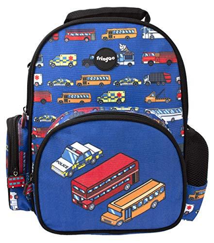 Fringoo - Kids Backpack for Boys   Designed for Young Children and Toddlers   Perfect for Nursery or School   Machine Washable - Traffic Jam