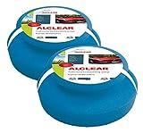 ALCLEAR 5713050M spugne di Microfibra per lucidatura Manuale di 2 Pezzi, 130x50 mm, tampone Pad applicatore per Cere, Lucidi, Pulizia Vernici, lucidatura Auto Invece della lucidatrice