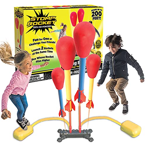 Product Image of the The Original Stomp Rocket Dueling Rockets, 4 Rockets and Rocket Launcher -...