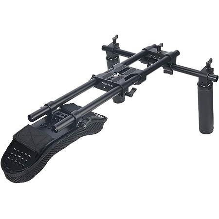NICEYRIG 15mm Shoulder Pad Support System for DSLR Camera Cinema Camcorder, Shoulder Mount Rig with Base Plate, Aluminum Alloy 15mm Rod, Handle Set - 435