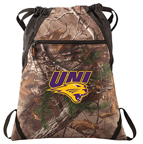 Broad Bay University of Northern Iowa Cinch Pack Realtree Camo UNI Panthers Backpack