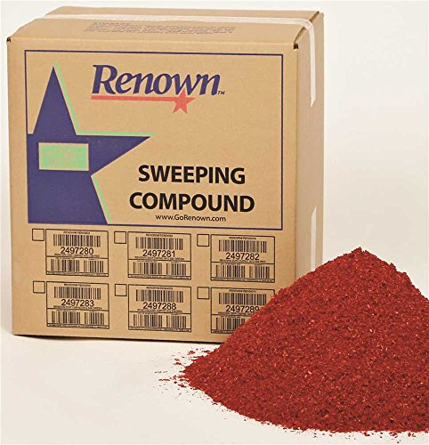 Renown REN04012 Sweeping Compound Oil Base, No Grit, 50 lb. Box, Red