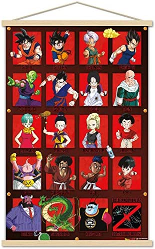 Trends International Dragon Ball Z Anniversary Wall Poster with Wooden Magnetic Frame 22 375 product image