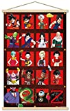 Trends International Dragon Ball Z - Anniversary Wall Poster with Wooden Magnetic Frame, 22.375' x 34', Print and Beechwood Hanger Bundle