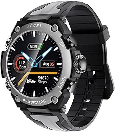 Reloj inteligente de música Bluetooth IP68 impermeable ritmo cardíaco tiempo fitness deportes al aire libre reloj para hombre y mujer-A