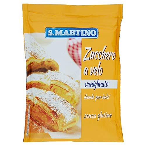 S.MARTINO - Zucchero a Velo Impalpabile Vaniglinato, 1 Busta da 125 gr, Ideale per Decorare i Vostri Dolci, Zucchero con Delicato Aroma di Vaniglia, Senza Glutine, Made in Italy