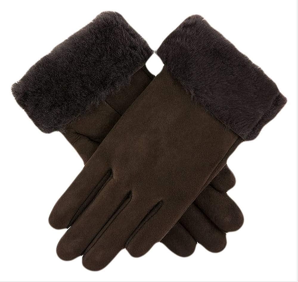 Dents Womens Louisa Sheepskin Gloves - Brown
