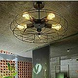Ventilador de techo, diseño retro de metal para ventilador de estilo steampunk industrial,...