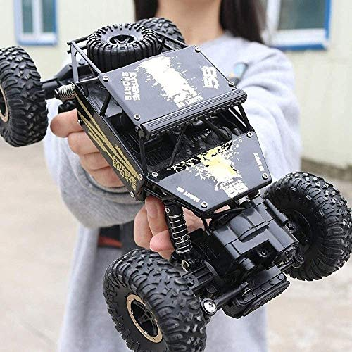 wangch All terrain1:18bigfoot Mountain Bike 4x4 Remote Control car, Rechargeable Remote Control Off-Road Waterproof Monster Truck Electric Toy, The Best Gift for Children and Adults (Color: Black)