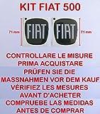 500carbono Kit Adhesivo Stickers Logo escudo badge Fiat Nuova 500delantera + trasera resinato efecto 3d adhesivo 3M capó Baúl